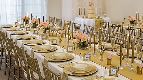 Gold glam wedding cake table idea party city gold glam wedding reception ideas junglespirit Gallery