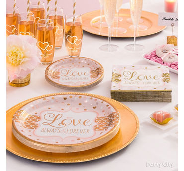 Sparkling Bridal Shower Place Setting Idea