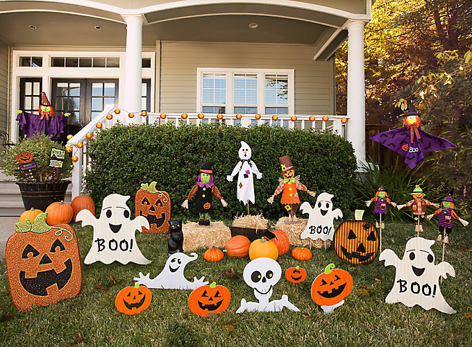 Friendly pumpkin patch ideas party city for Decoration exterieur halloween