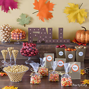 Fall Candy Buffet Table Idea