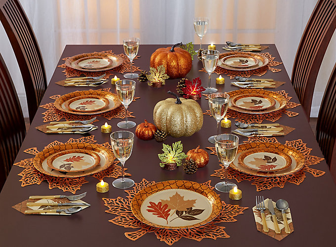 Thanksgiving Shimmer Tablescape Ideas Party City