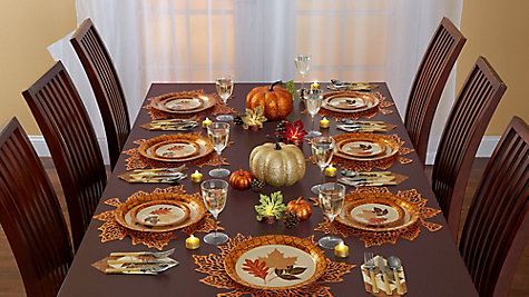 Thanksgiving Shimmer Tablescape Ideas
