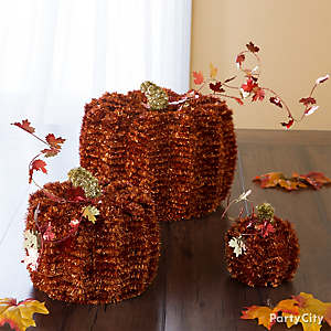 Tinsel Pumpkins Idea