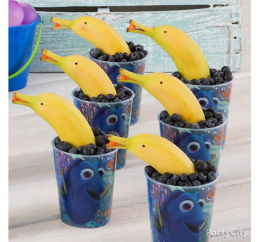 Dolphin Bananas and Berries Snack Idea