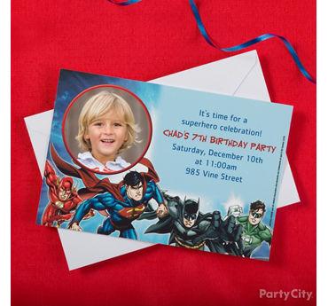 Justice League Custom Invite
