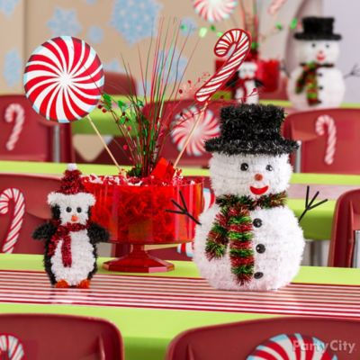 Festive Flurries Centerpiece Idea