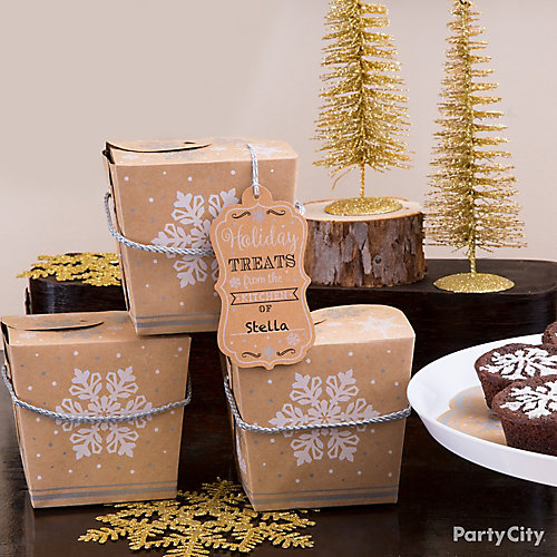 Rustic Winter Take-Out Boxes Idea