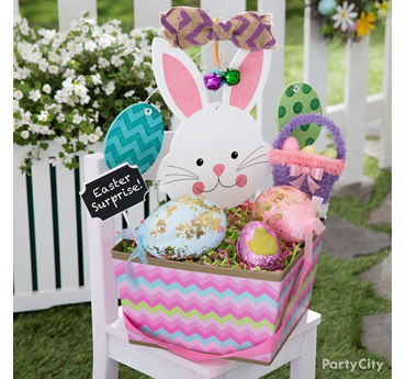 Easter basket and party ideas party city party city neighbor easter basket idea negle Choice Image