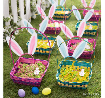Easter basket and party ideas party city party city egg hunt baskets idea negle Images