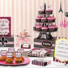 Taste of Paris Food Table Idea