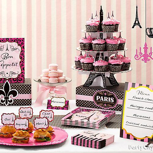 Taste of Paris Food Table Idea