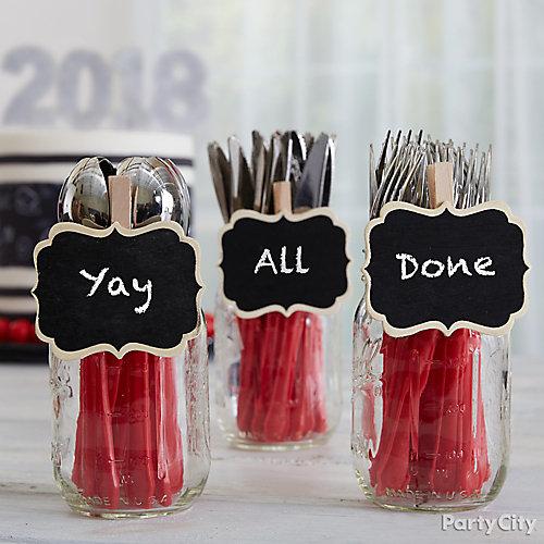 Graduation Party Cutlery Idea