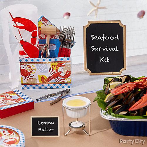 Seafood Survival Kit Idea