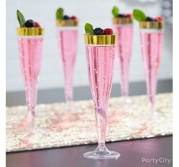 Berry Pink and Gold Spritzer Idea