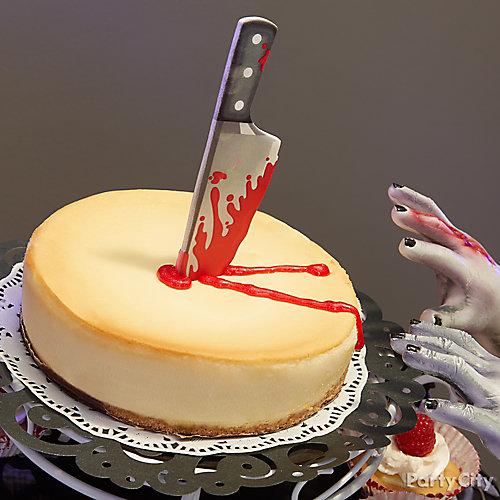 Slashed Bloody Cheesecake Idea
