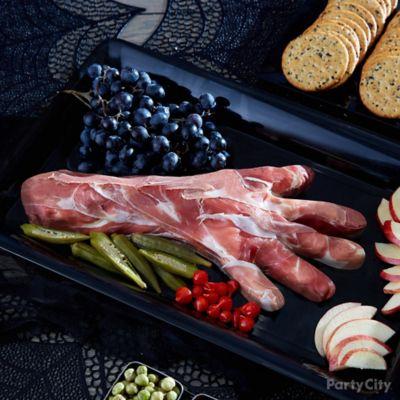 Prosciutto Hand Halloween Appetizer Idea
