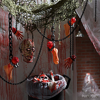 Bloody Basement Haunted House Idea