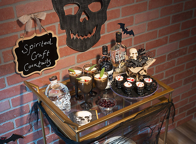 Sinister Halloween Bar Cart Ideas