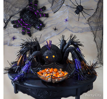 Entryway Halloween Spider Table Idea