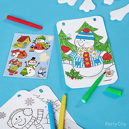 Kids Holiday Party Coloring Activity Idea