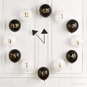 Countdown to Midnight Balloons Idea