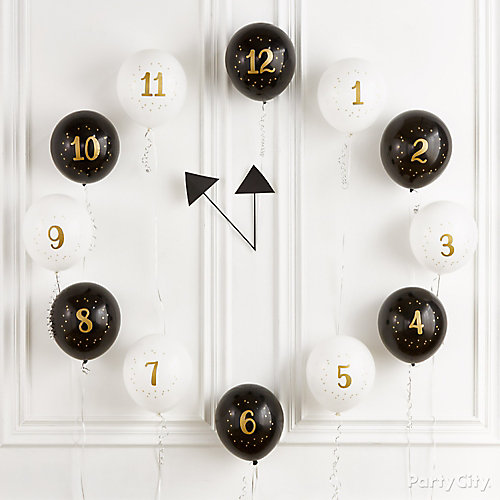 Countdown to Midnight Balloons Idea
