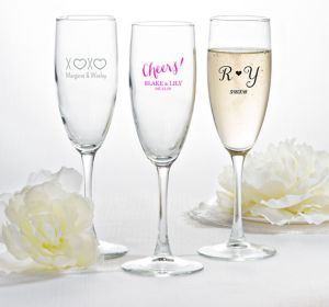 Personalized Champagne Flutes <br>(Printed Glass)</br>