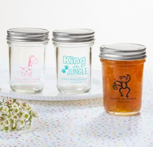 Fisher-Price Jungle Personalized Baby Shower Mason Jars (Printed Glass)