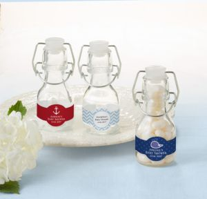 Personalized Glass Swing Top Bottles