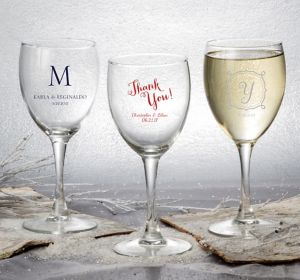 Personalized Wine Glasses <br>(Printed Glass)