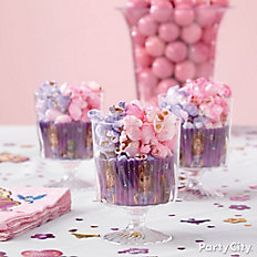 Sofia's Pink and Purple Popcorn Cups