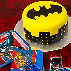 Batman Batsignal Cake
