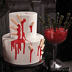 Bloody Good Severed Fingers Cake