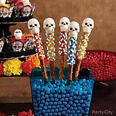 Day of the Dead Candy Skull Pretzel Pops