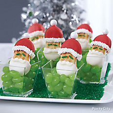 Santa Peanut Butter Cookies