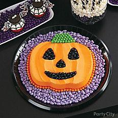 Witch's Crew Jack-o'-Lantern Candy Cake