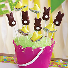 Candy-Dipped Peeps Sprinkle Pops