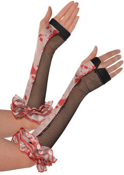 Bloody Clown Arm Warmers - Freak Show