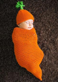 Baby Crochet Cocoon Carrot Costume