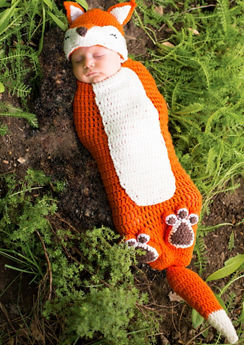 Baby Crochet Cocoon Fox Costume