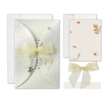 Pressed Floral Printable Wedding Invitations Kit 50ct