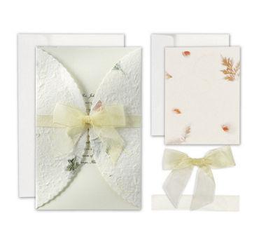 Pressed Floral Printable Wedding Invitations Kit 50ct