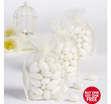 Ivory Organza Standing Favor Bags