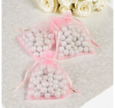 Pink Organza Favor Bags