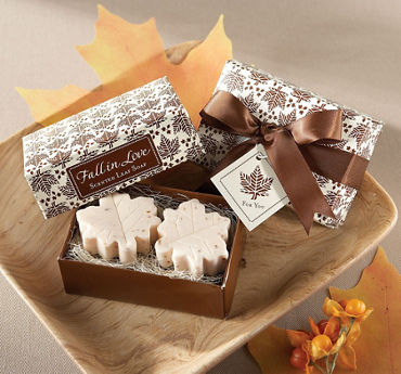 Autumn Leaf-Shaped Soaps