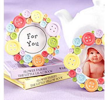 Cute as a Button Photo Frame