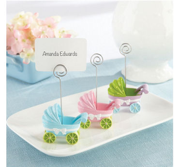 Baby Carriage Place Card Holders 3ct