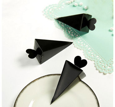 Black Cone Favor Boxes 50ct