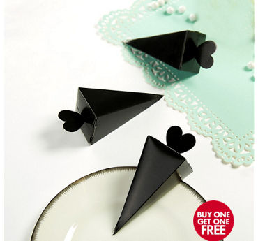 Black Cone Favor Boxes 50ct