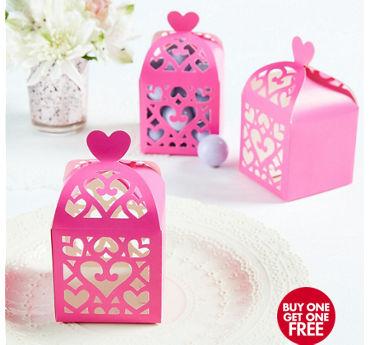 Bright Pink Lantern Favor Boxes